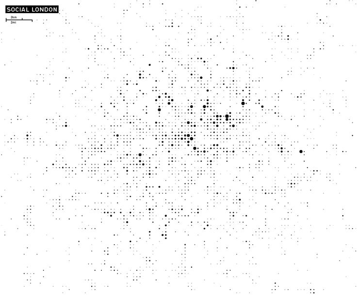 Archipelago, mapping foursquare checkins into a grid over cities / via straup