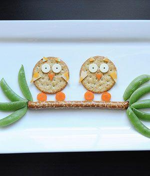 Cute Snack Idea: Owls in a Tree