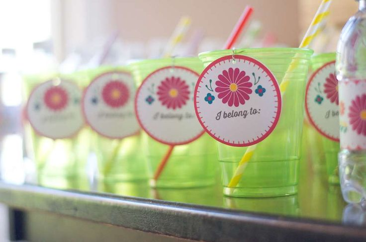 Drinks at a fiesta bridal shower party! See more party planning ideas at CatchMyParty.com!