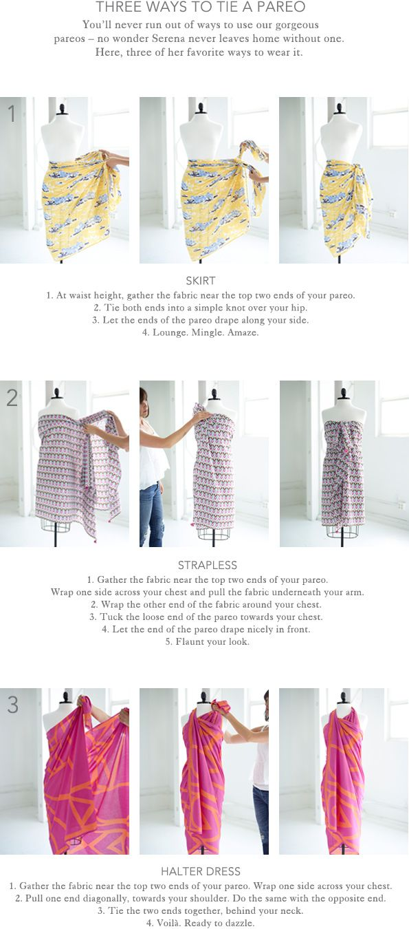 Three Ways To Tie A Pareo