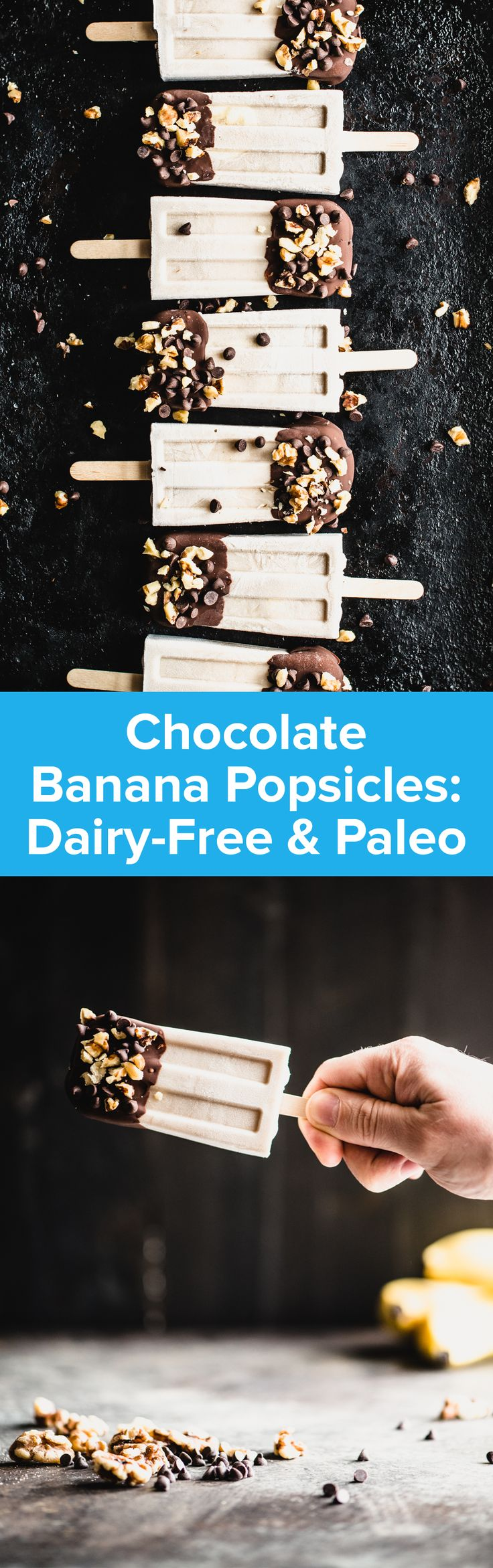 Chocolate Banana Popsicles Recipe | StupidEasyPaleo.com