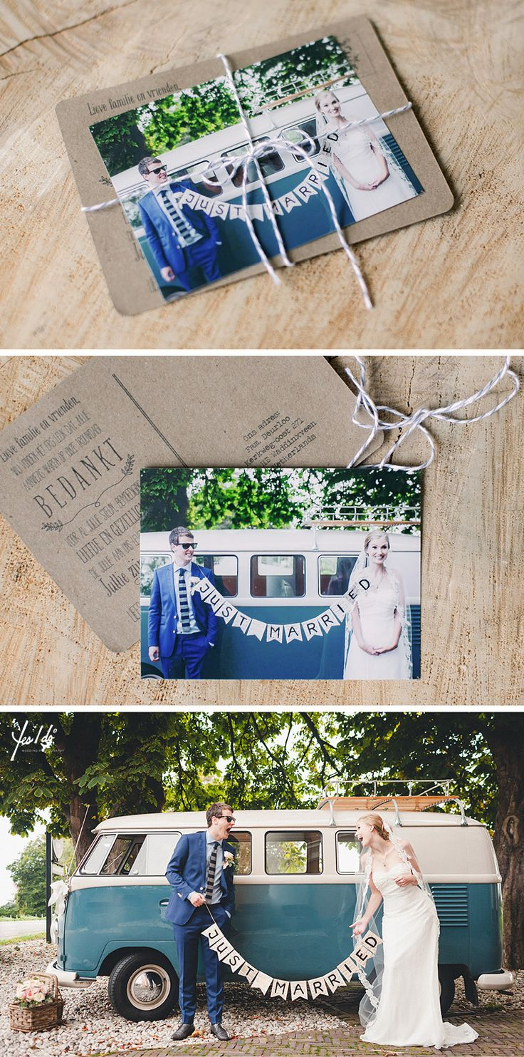 Our VW van thank you cards | Yes I Do photography