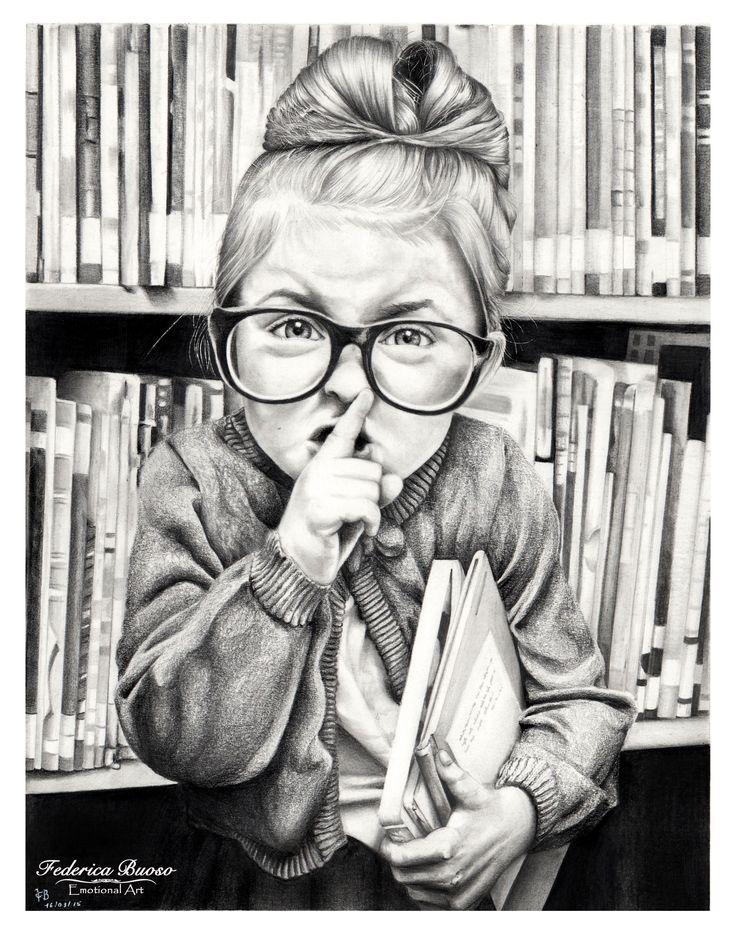 """Shhh!"" - Matita su cartoncino Fabriano ""Dolce nanna"" - matita su cartoncino Fabriano Watercolour 28x35"