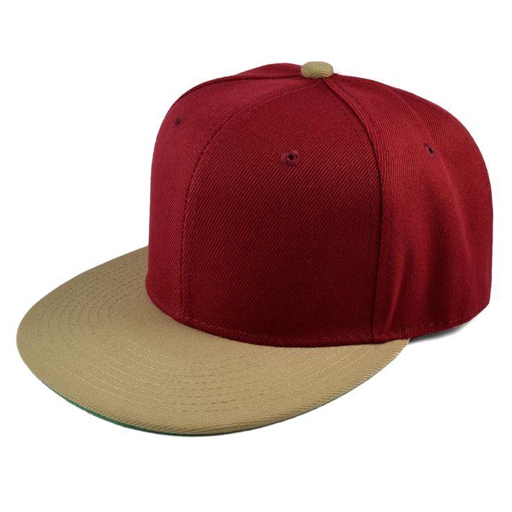 Burgundy/Khaki Snapback Cap - 199,00kr