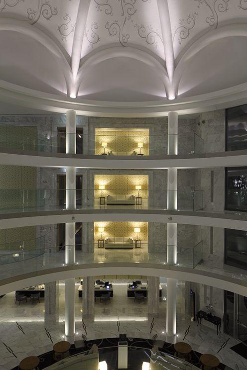 Spectacular lobby atrium at the Conrad, Algarve