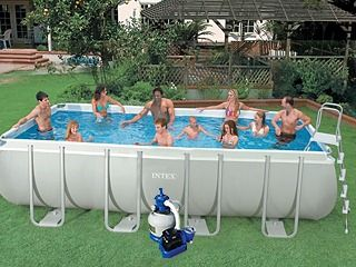 Image Kit piscine tubulaire Intex ULTRA SILVER rectangulaire 549 x 274 x 132cm filtration sable