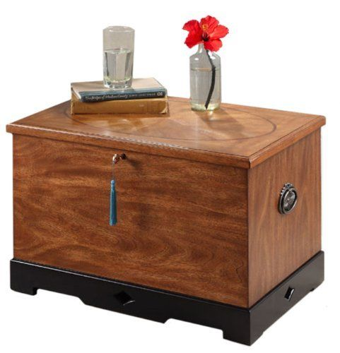 Dream Capsule Marquetry Fan Wood Storage Chest by Dream Capsule. $135.89. Come with handbook. Interior cedar lining. Solid wood construction. Lockable chest. Divider tray. The traditional mosaic design commonly used on coffee tables, adopted to be use on the storage chest.. Save 55%!