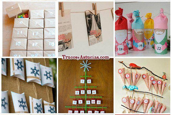 Varias ideas para hacer calendarios de adviento en casa - Casa de manualidades ...