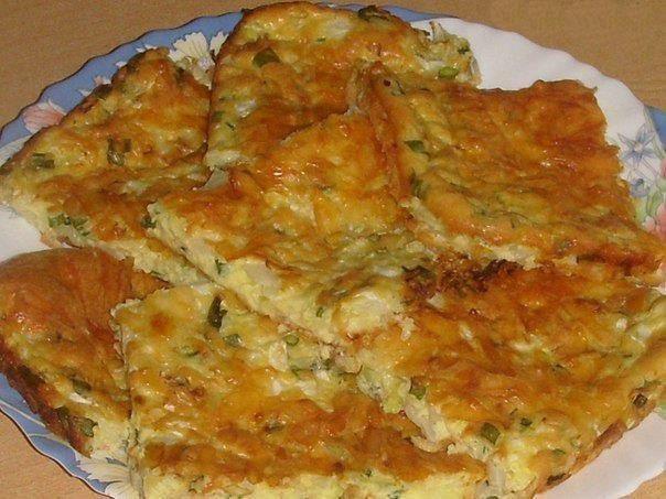 3 яйца, 3 стол.ложки белого йогурта с горчицей, 3 стол.ложки сметаны,  3 стол.ложки муки, 0.5 ч.л. разрыхлителя,  0.5 ч.л.крахмала.  Капуста-300 гр.    Приготовление:    Всё хорошо перемешать+немного измельченного чеснока(по желанию).  Капусту мелко нарезать,посолить,пожимкать.  Противень смазать раст. маслом,уложить капусту(можно добавить немного зелёного лука),залить полученной смесью смесью.Сверху присыпать тёртым сырком.Запекать при 200-20 минут.Когда остынет,нарезаем на кусочки!