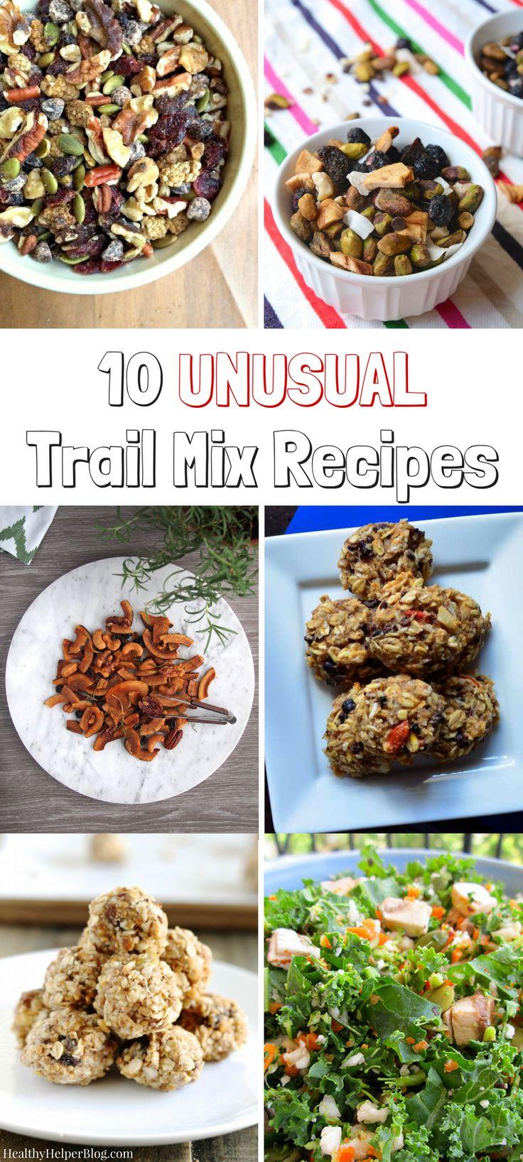 10 Unusual Trail Mix Recipes | Healthy Helper @Healthy_Helper Celebrate…