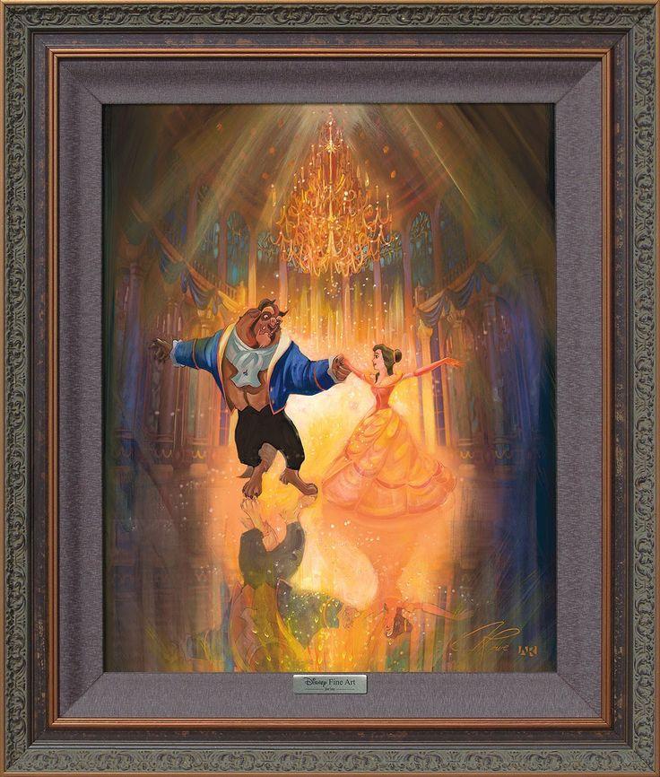 Beauty and the Beast - The Perfect Dance - John Rowe - World-Wide-Art.com - #disney #disneyfineart #silverseries #johnrowe #beautyandthebeast