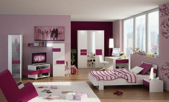 Chambre ado fille moderne