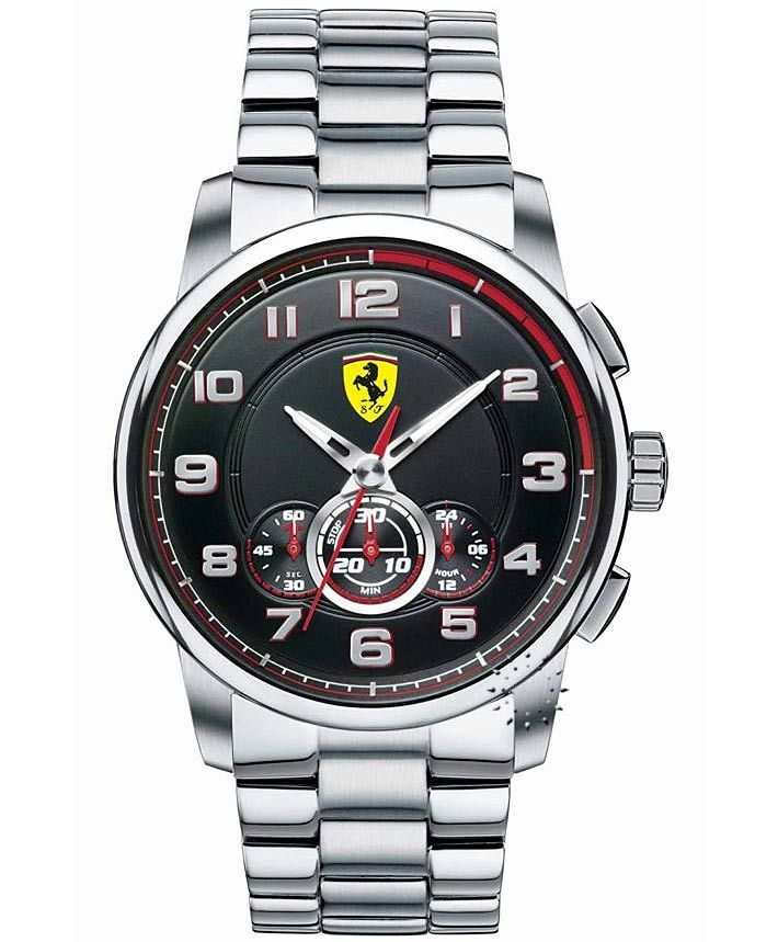 FERRARI Heritage Chronograph Stainless Steel Bracelet Τιμή: 439€ http://www.oroloi.gr/product_info.php?products_id=33442