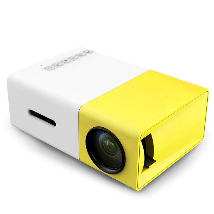 Asli YG-300 LCD Proyektor Portabel Mini 400-600LM 1080 p Media DIPIMPIN Lampu Video 320x240 Piksel Player Terbaik Rumah Protector