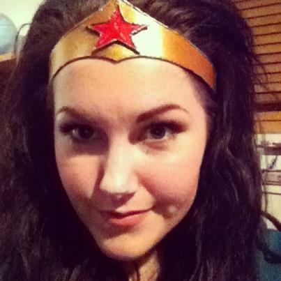 Wonder Woman tiara made by Jessie Churchill