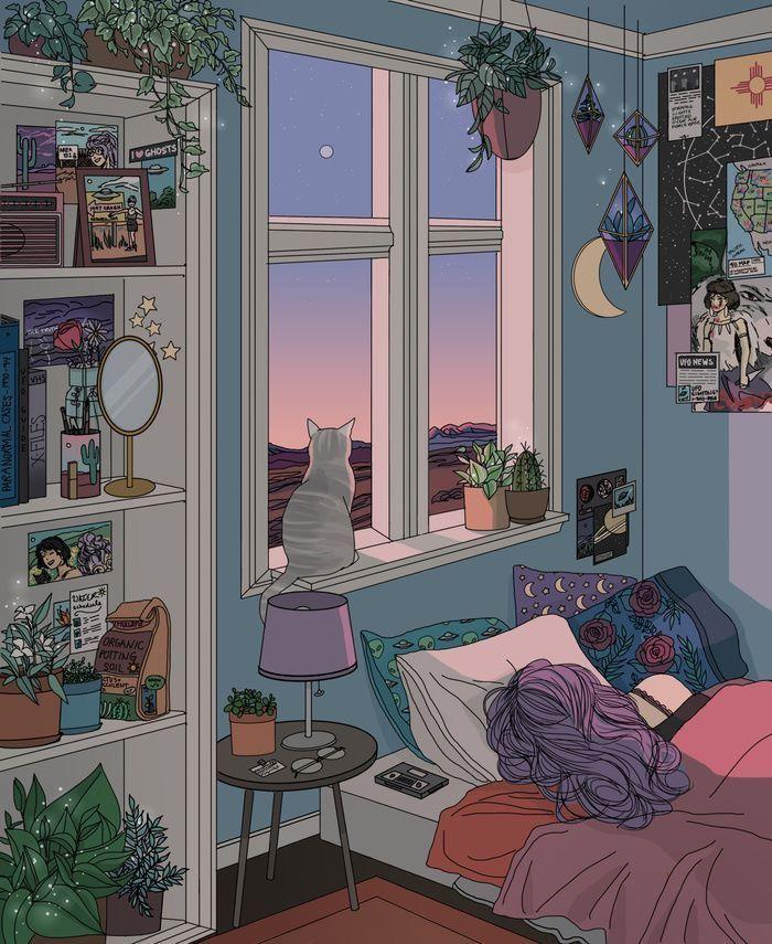 Anime Backgrounds Bedroom Morning : anime, backgrounds, bedroom, morning, Meinesvenja, Zeichnungen, Häuser, Inspiration,, Aesthetic