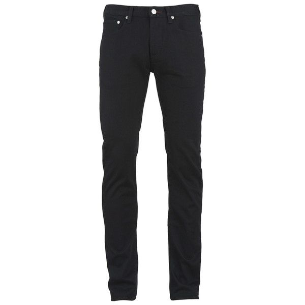 Paul Smith Jeans Men's Slim Fit Jeans - Black ($75) ❤ liked on Polyvore featuring men's fashion, men's clothing, men's jeans, men, pants, bottoms, jeans, black, mens jeans and mens slim cut jeans