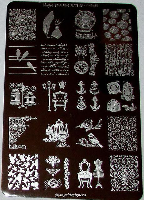 Angel Design : Moyra - Stamping plates bemutató