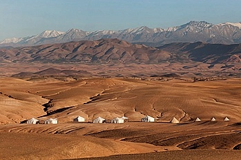 Scarabeo Camp, Morocco, An unusual nomadic encampment in the exceptional setting of a stone desert less than hour away from Marrakech