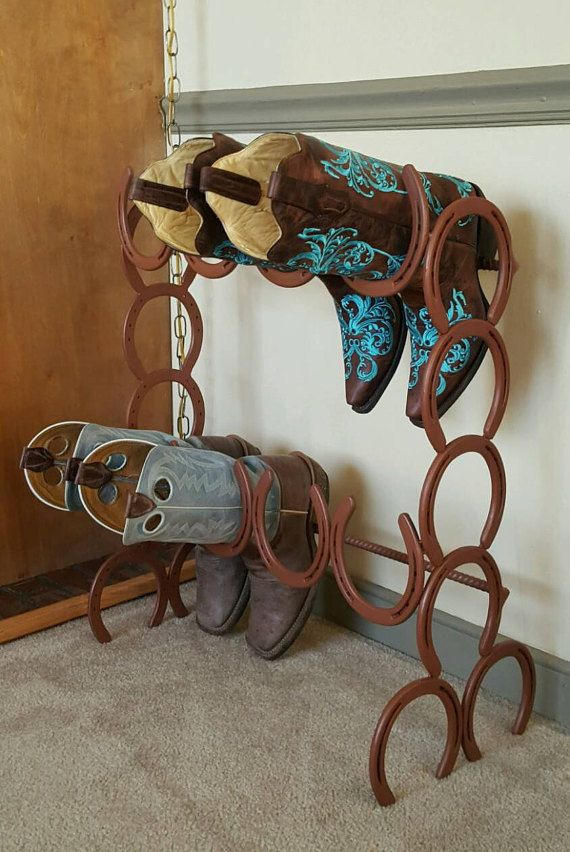 Horseshoe Boot Rack 4 pair boot rack boot by StyleMeCountry