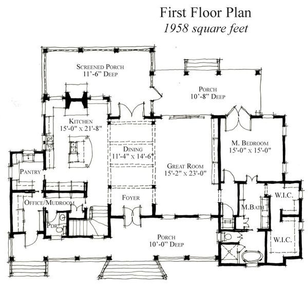 1620 best house cottage floorplans images on pinterest for Country house plans with open floor plan