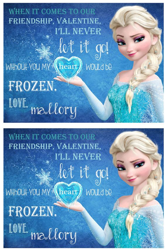 Frozen valentine cards