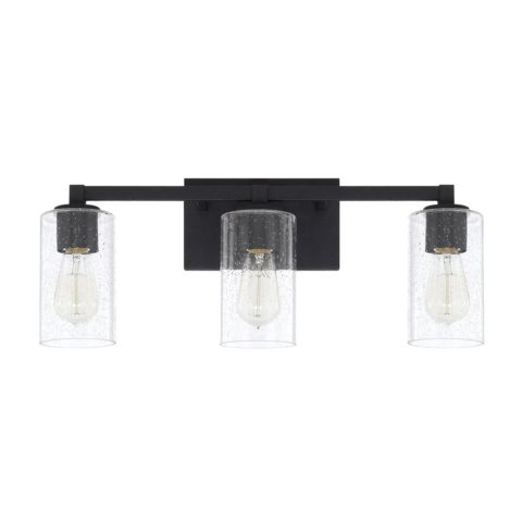 vanity lighting ideas. capital lighting 3 light ravenwood vanity in black iron 119831bi435 ideas