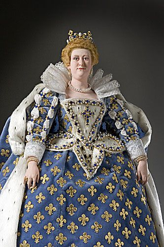 Her personal charms were eclipsed by poor judgments and personal grievances.  Marie de Medici (1573-1642) became the second wife of King Henry IV, in 1600. After his assassination, she was regent for her son Louis XIII. She reversed the policies set by her husband and nearly bankrupted France with her extravagance. Her son Louis XIII eventually forced her into exile, where she lived with the artist Peter Paul Rubens. She died in poverty.  Her son later repented his treatment of his mother.