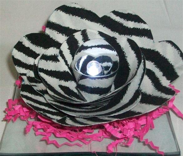 41 best zebra stuff images on pinterest zebra stuff zebra handmade zebra fabric flower centerpiece wedding decorationsbaby shower favor junglespirit Images