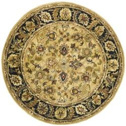 @Overstock - Inspired by the finest Persian and European designs combined with pure premium wool with a luster wash makes this a rug to be enjoyed and treasured.http://www.overstock.com/Home-Garden/Handmade-Classic-Gold-Black-Wool-Rug-6-Round/6722295/product.html?CID=214117 $193.56