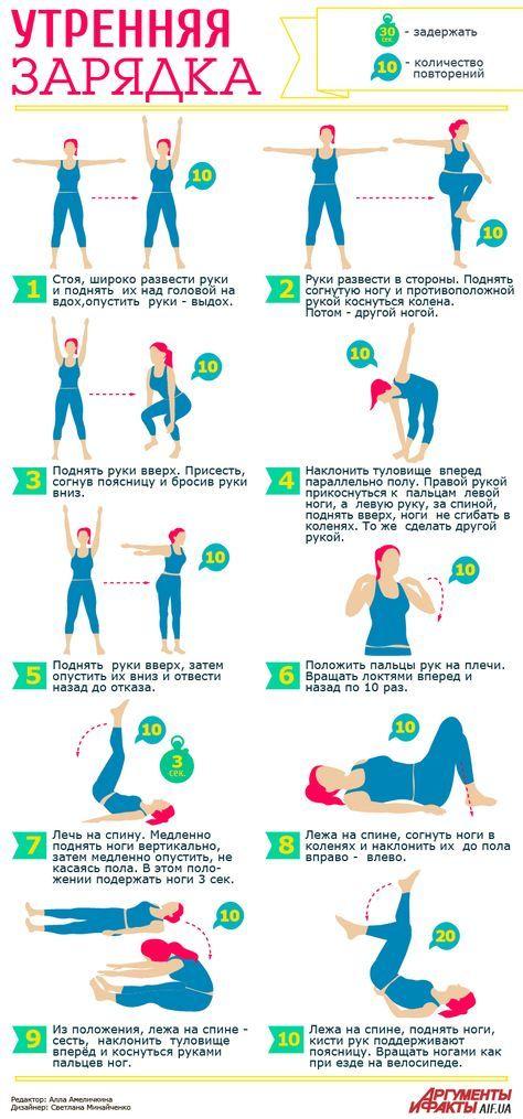 Зарядка для похудения, нормализации сна и хорошего настроения   Здоровая жизнь   Здоровье   АиФ Украина