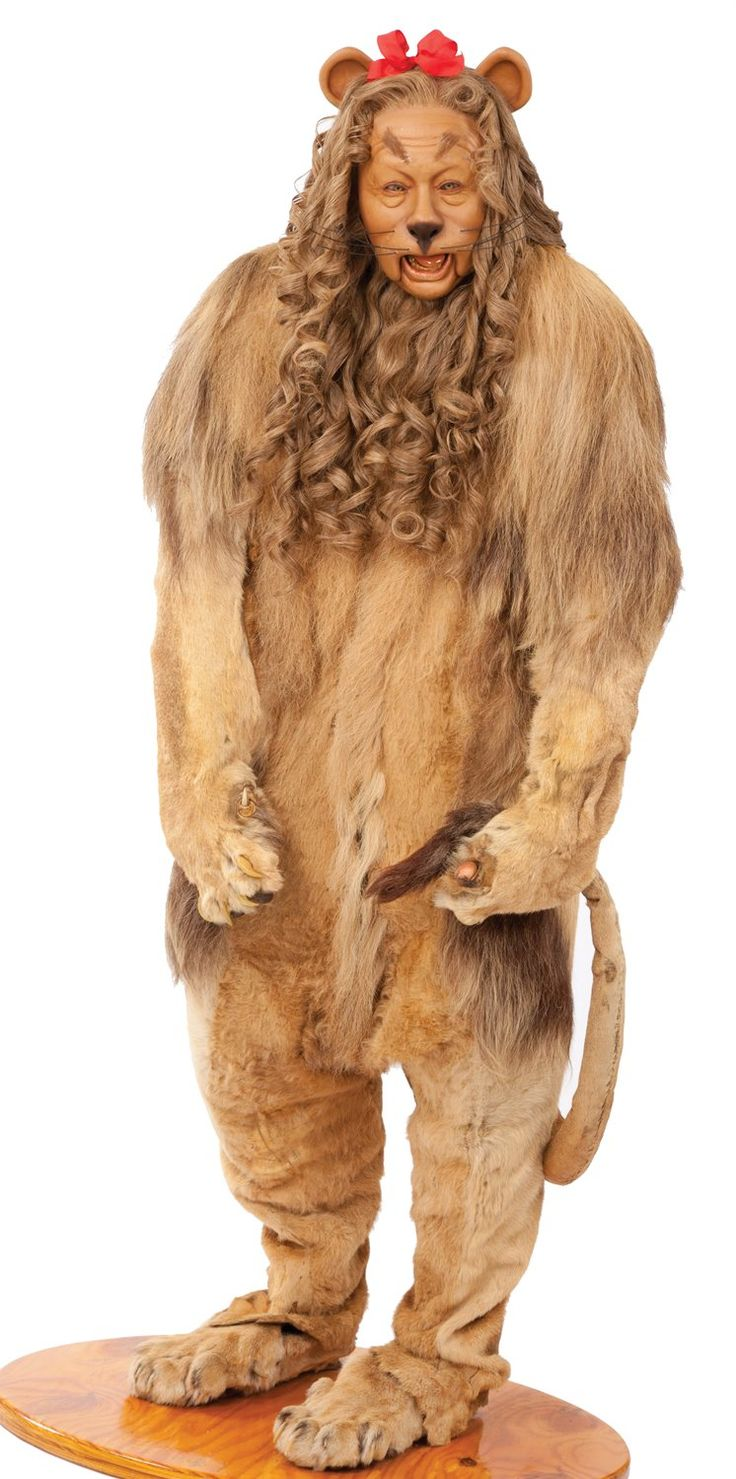 "Cowardly Lion Costume made for Bert Lahr in ""The Wizard of Oz"". (Lahr's son is shown modeling the costume)."
