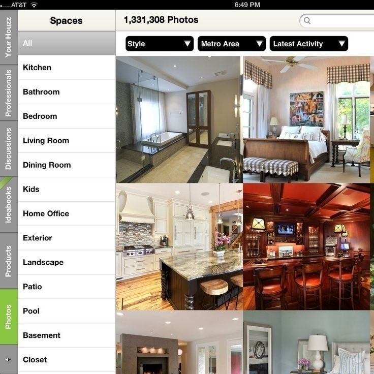 When it comes to design, the earliest idea stages can be the most important. The Houzz app has seemingly endless original photographs from designers, photographers, and architects to get those creative juices flowing.