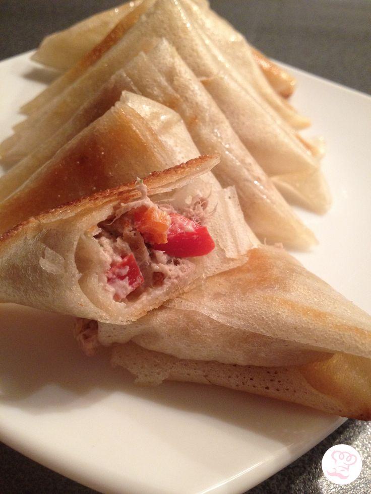Samoussas au thon et poivrons rouge parce - Que cuisiner avec des poivrons ...