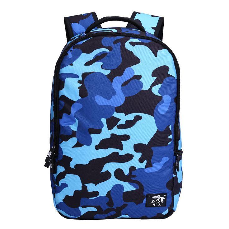 blue camouflage backpack men school bag high school bags for boys animal print laptop bag 15 bookbag college bags for travel