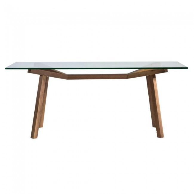 Forte Rectangular Glass Dining Table 180cm