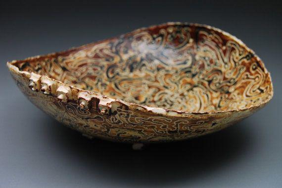 Malmsey Mambo  ceramic bowl OOAK bowl handmade bowl
