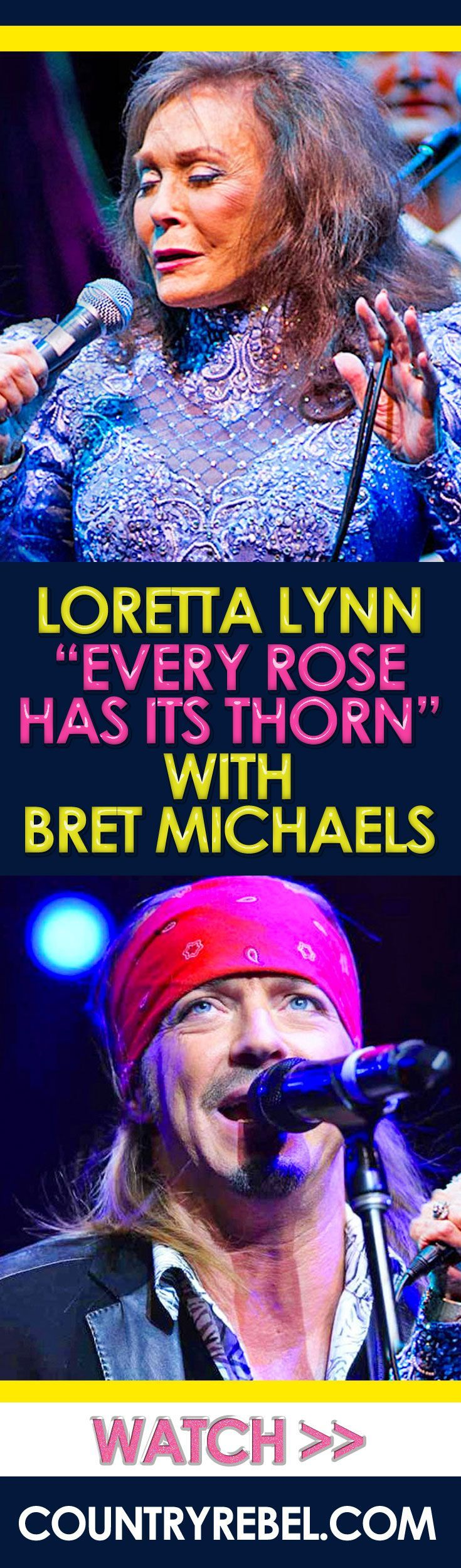 Country Music - Loretta Lynn Rocks 'Every Rose Has Its Thorn' With Poison's Bret Michaels