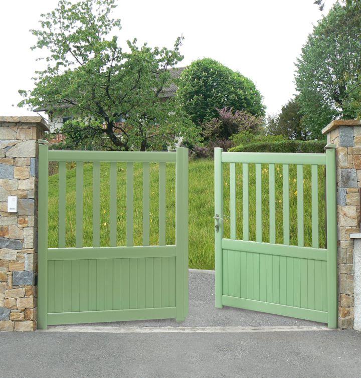 Les 67 meilleures images du tableau portail aluminium sur pinterest portail - Portillon dans portail ...