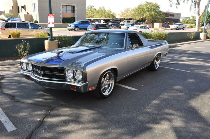 1970 #Chevrolet El Camino Pro Touring - #Lease with Premier, #Russo&SteeleAuction #ScottsdaleAuctions, #Silver, (Image, Source russoandstele.com #5038)