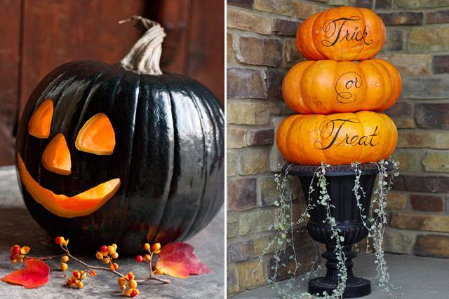 pumpkin - love the idea on the right - very elegant. (pinned by www.NataschaLeeStudios.com)