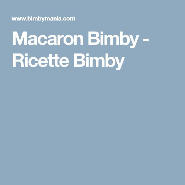 Macaron Bimby - Ricette Bimby