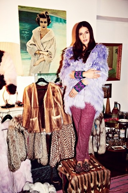 Margarita missoni at home.  Love the coat collection.  Her shoe collection also deserves an honerable mention.