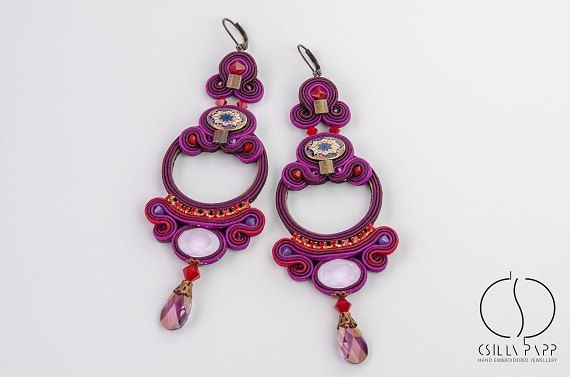 1000+ images about Csilla Papp Soutache Jewelry on ...