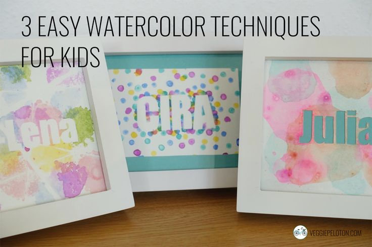 Easy watercolor techniques for kids