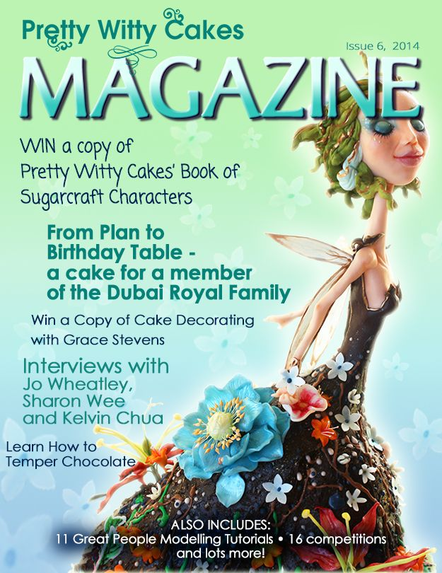 The Pretty Witty Cakes Magazine Issue 6 all about People Modelling is now out and totally FREE - all 203 pages!  Download here https://www.prettywittycakes.co.uk/pretty-witty-cakes-magazine