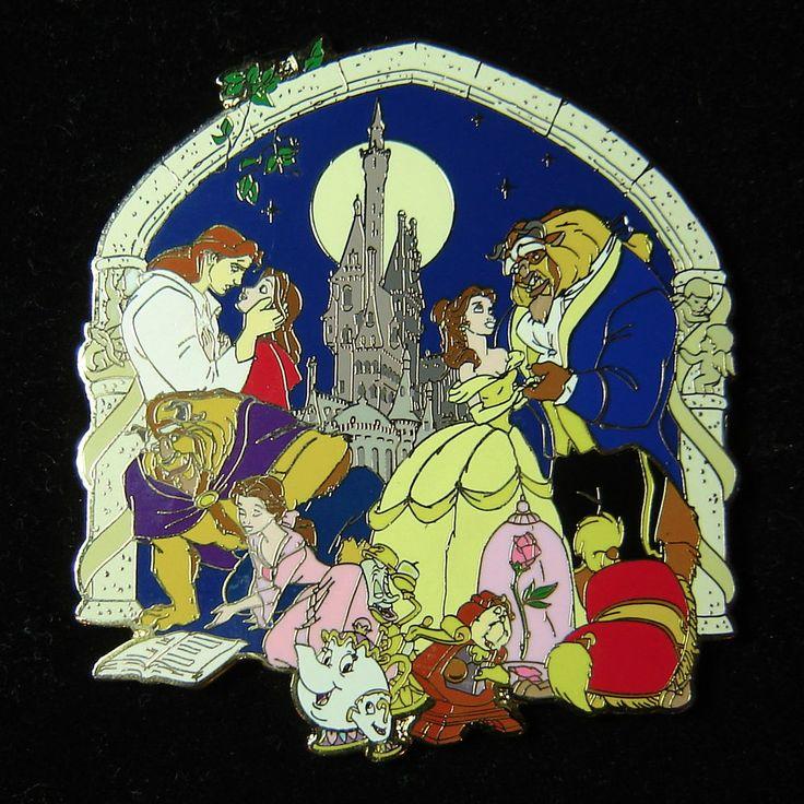 RARE VHTF Disney Auctions Pin DA Beauty & The Beast Storybook Jumbo LE 100 OC