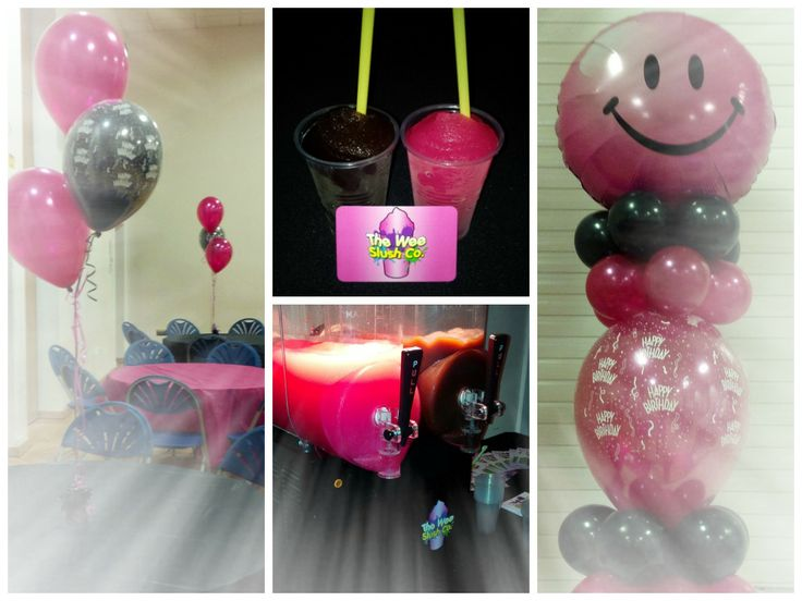 Planning an event with a specific #theme or #colour choice? Let us know! We'd be happy to suggest #slush #flavours to match or compliment your #party style! Here's our tasty Pink Bubblegum and Cola slush drinks at a fabulous pink and black themed #birthday party! Book one of our hire packages and enjoy the perfect accessory to your special occasion! - Exclusive to The Wee Slush Company / #TWSC #BigL #BigOpenSky
