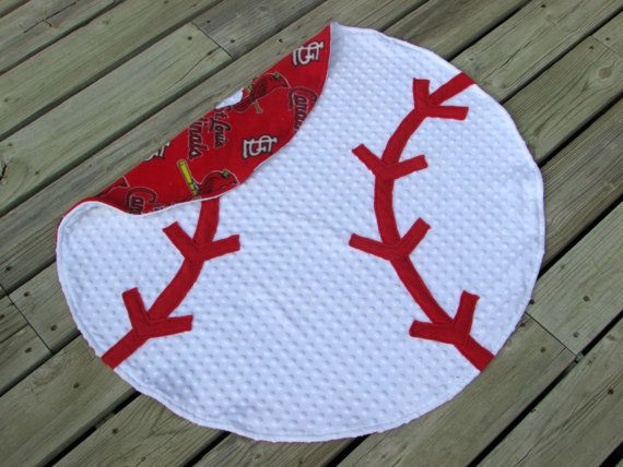 Custom St. Louis Cardinals Baseball Minky Blanket, Rug, MLB, Sports Nursery Decor, Photo Prop, World Series, Personalized Baby Shower Gift