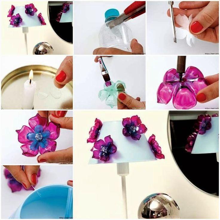 Mini tutos kimmy: Flores con botellas plasticas